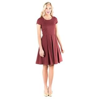 Downeast Basics Women's Red Cotton Spot-on Dress