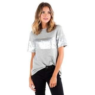Downeast Basics Women's Grey Cotton Shine Bright Top
