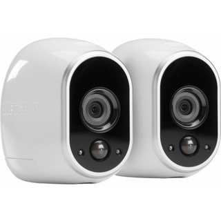 NETGEAR Arlo Smart Home Indoor/Outdoor Wireless High-Definition IP White/Black Security Cameras (Pack of Two)