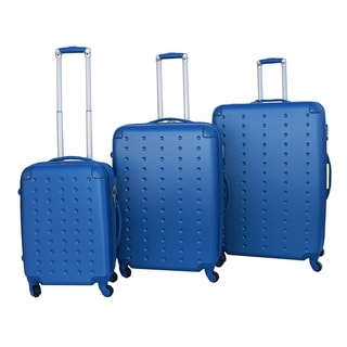 Rivolite Molded Dot 3-piece Hardside Spinner Luggage Set