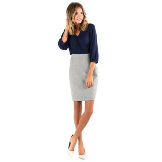 DownEast Basics Women's Heavy Metal Grey Skirt