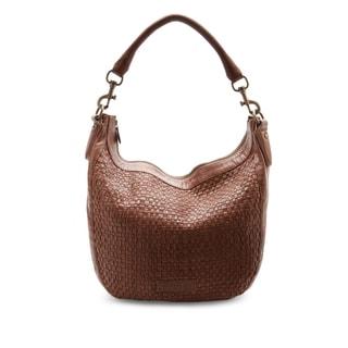 Liebeskind Berlin Robin Brown Leather Woven Hobo Handbag