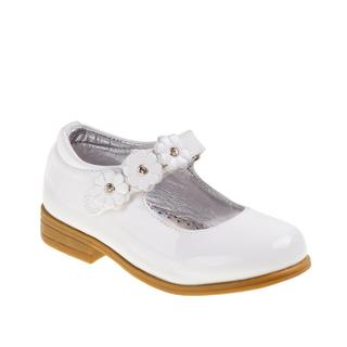 Laura Ashley White Toddler Dress Shoes