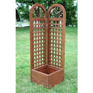 Merry Products Wood Trellis Screen and Planter System
