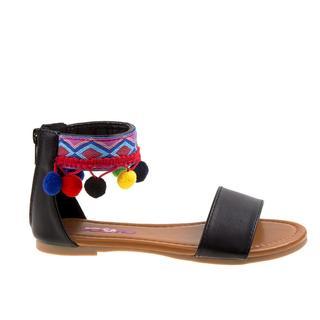 Josmo Girls Tan and Black Polyurethane Sandals