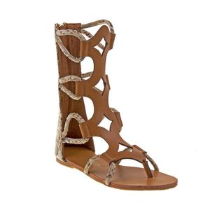 Kensie Girl Brown Tall Roman Sandal