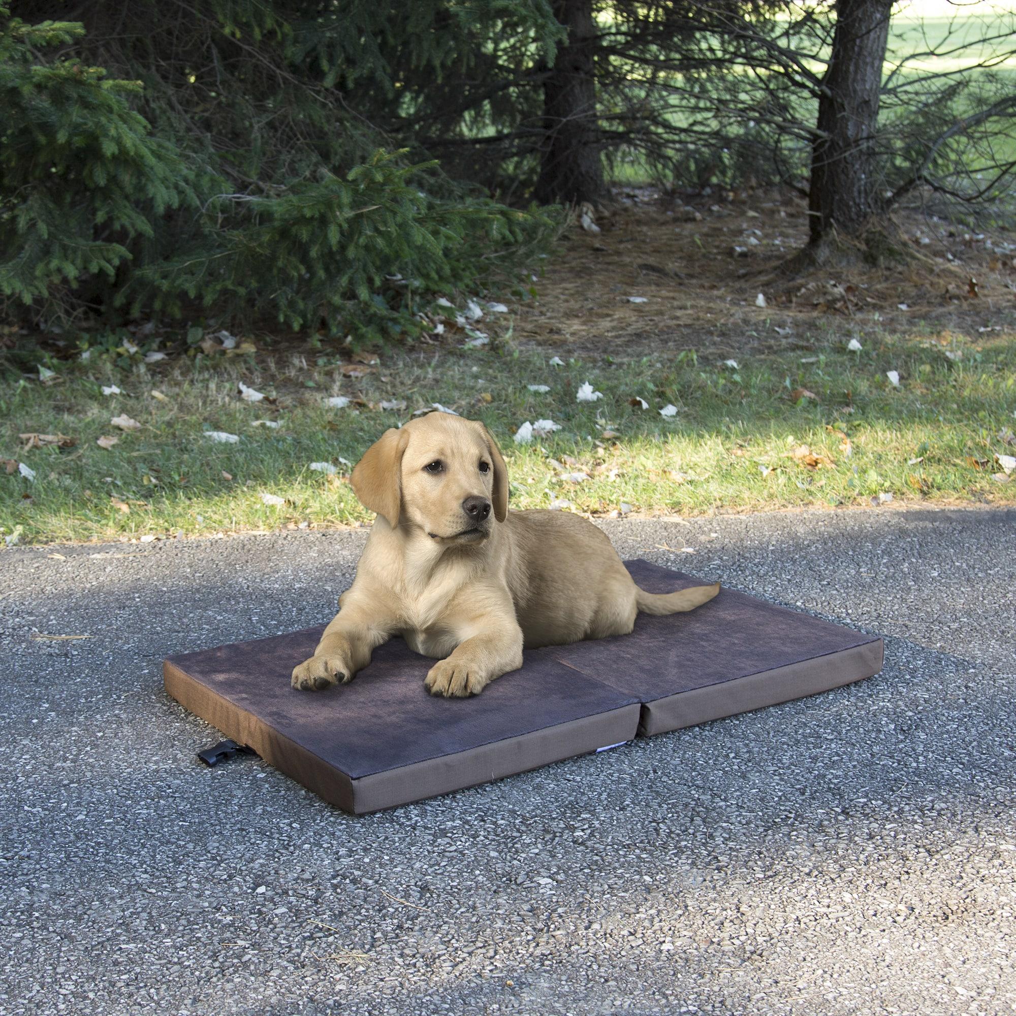 Petmaker Portable Travel Folding Pet Bed (Chocolate Brown...