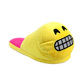 Olivia Miller Women's Smiley Yellow Emoji Slippers