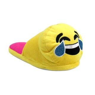 Olivia Miller Tears Emoji Yellow Slippers
