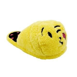 Olivia Miller 'Heart Kiss' Yellow Emoji Slippers
