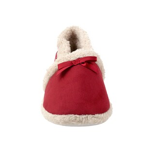 Olivia Miller Evie Faux-fur Trim Bow Slippers