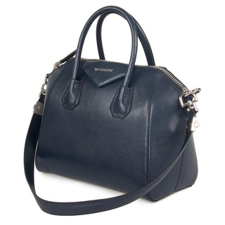 Givenchy Antigona Small Matte Night Blue Leather Tote Bag