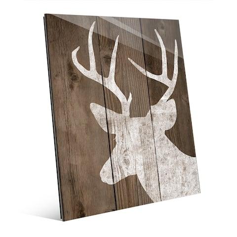 Reindeer on Deck Wall Art on Acrylic
