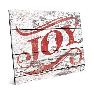 'Joy' Red Christmas Theme Acrylic Wall Art