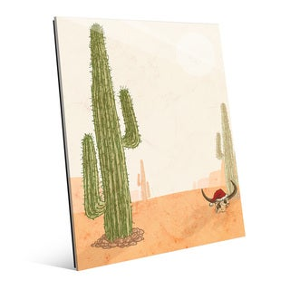 Desert Christmas with Cactus Wall Art on Acrylic