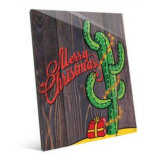 Cactus Christmas Tree Wall Art on Acrylic