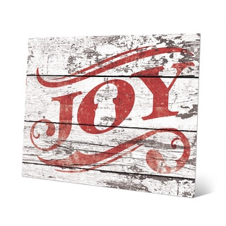 Christmas Joy in Red Wall Art on Metal