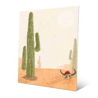 Desert Christmas with Cactus Wall Art on Metal