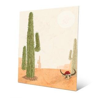 Desert Christmas with Cactus Wall Art on Metal