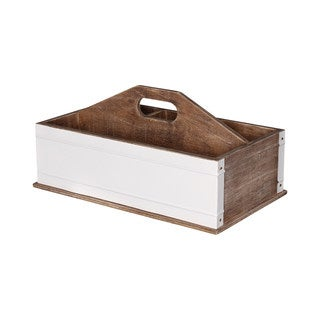 Kate and Laurel Wood and Metal Desktop Office Supply Caddy Organizer
