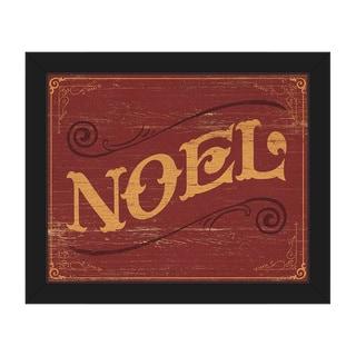 Classic Noel Vintage Sign Framed Canvas Wall Art