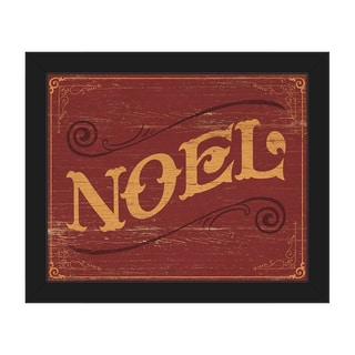 Classic Noel Vintage Sign Framed Canvas Wall Art