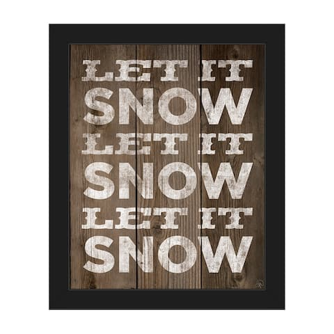 Let it Snow Christmas Framed Canvas Wall Art