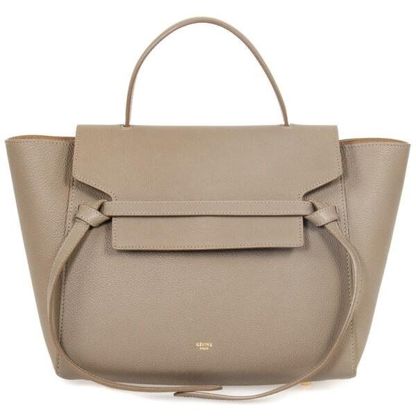 Celine Belt Medium Dune Grain Leather Tote Bag