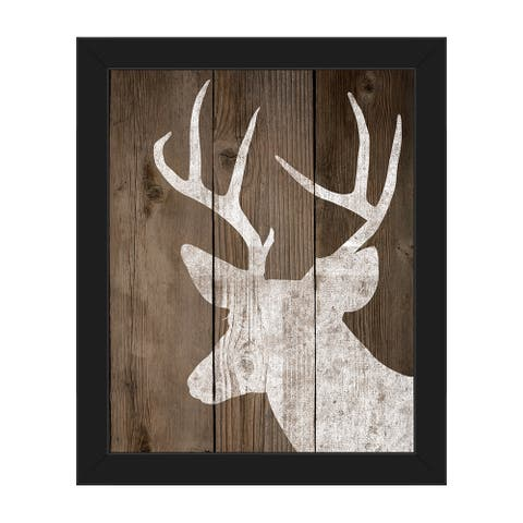 Reindeer on Deck Framed Canvas Wall Art