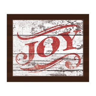 Christmas Joy in Red Framed Canvas Wall Art