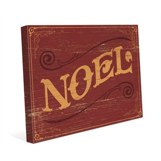 Classic Noel Vintage Sign Wall Art on Canvas