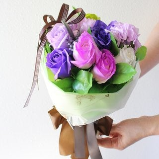 Ikee Design Artificial Small Floral Bouquet Wrap with Paper