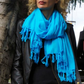 Handmade 1 World Sarongs Women's Solid Color Universal Scarf with Infinity Ring (Indonesia)