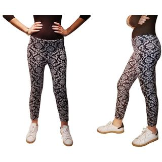 Riviera Juniors' Black and White Plus-size Legging