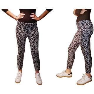 Riviera Juniors' Black and White Plus-size Legging