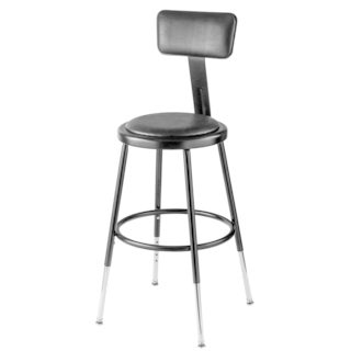 Black Vinyl Adjustable Height Padded Stool with backrest  sc 1 st  Overstock.com & Commercial Stools - Shop The Best Deals for Nov 2017 - Overstock.com islam-shia.org