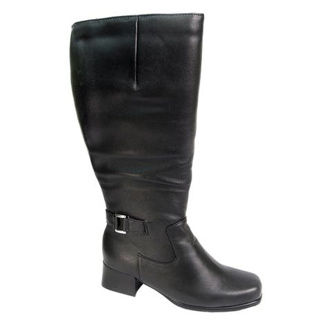FIC PEERAGE Becca Women's Extra Wide 16-inch Leather Knee-High Boots
