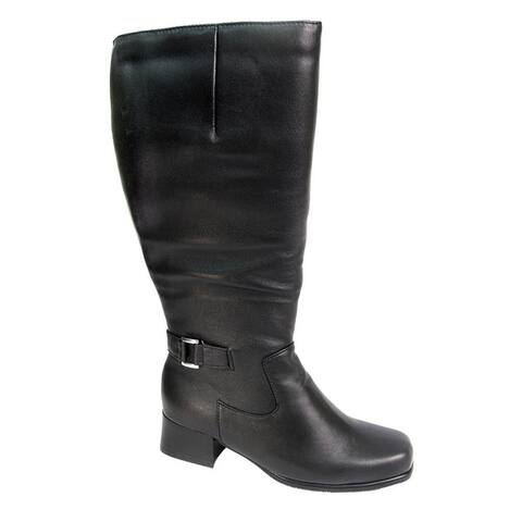 FIC PEERAGE Becca Womens Extra Wide 16-inch Leather Knee-High Boots