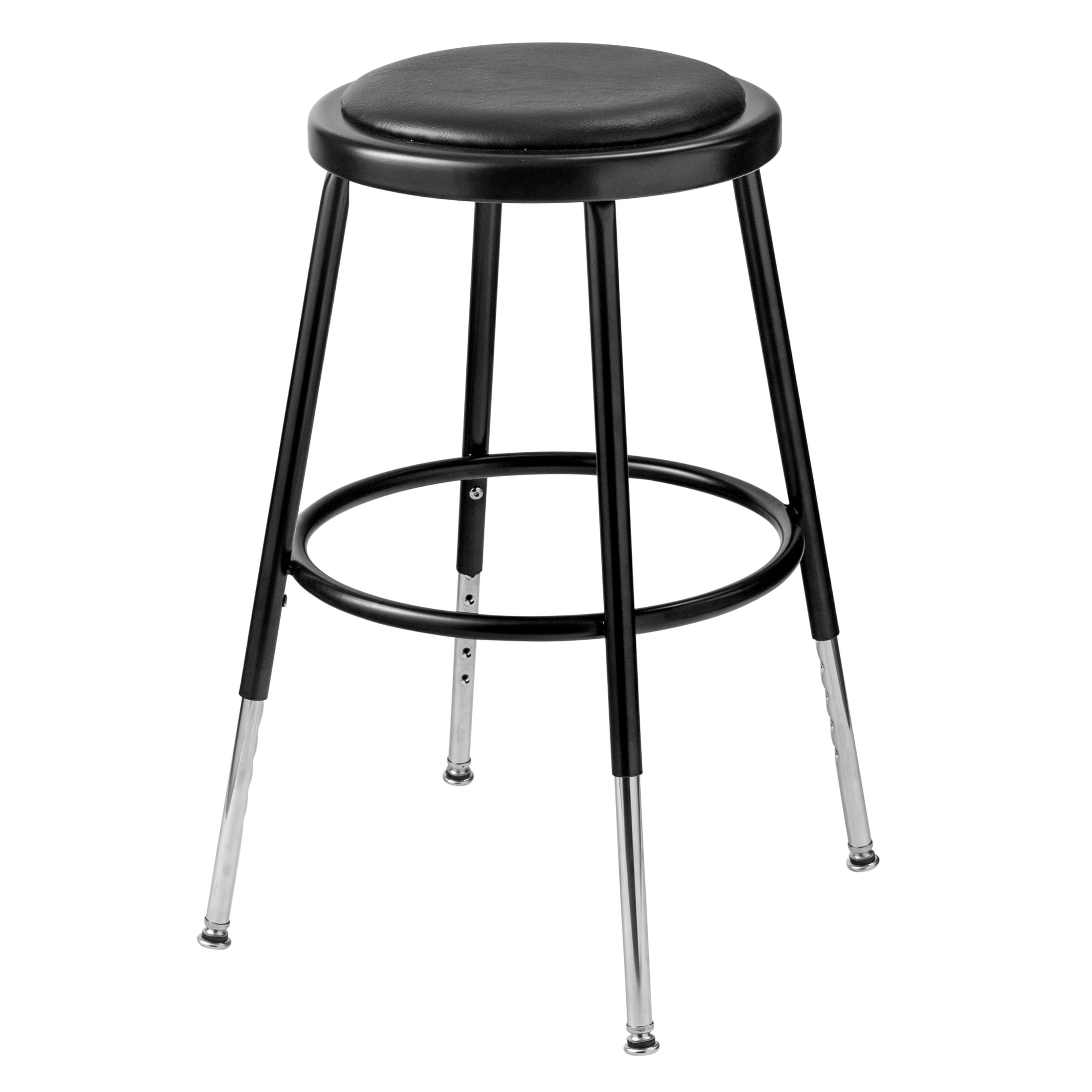 Peachy Black Vinyl Adjustable Height Padded Stool Gamerscity Chair Design For Home Gamerscityorg