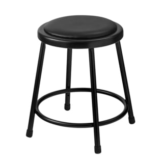 Black Vinyl Padded Stool