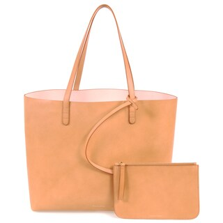 Mansur Gavriel Camello Rose Leather Large Tote Bag