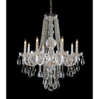 Crystorama Traditional Crystal Collection 8-light Polished Brass/Swarovski Spectra Crystal Chandelier