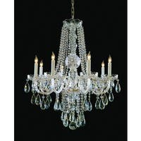 Crystorama Traditional Crystal Collection 8-light Polished Brass/Swarovski Strass Crystal Chandelier