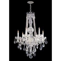Crystorama Traditional Crystal Collection 6-light Polished Chrome/Swarovski Spectra Crystal Chandelier