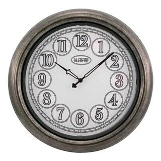 La Crosse Clock 404-3246 18 In Indoor/Outdoor Analog Lighted Dial Wall Clock in Antique Nickel finish