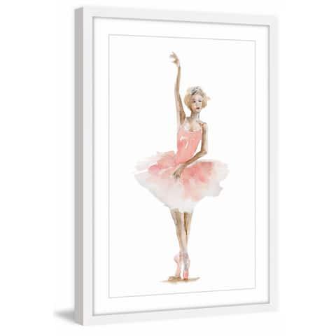 Marmont Hill - Handmade Ballerina Pink Framed Print