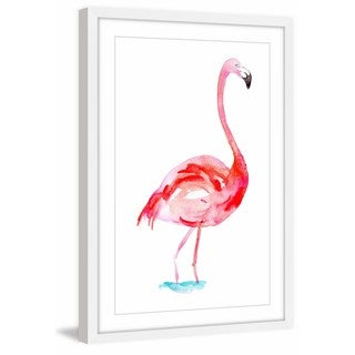 Marmont Hill - 'Flamingo Bright Pink' by Michelle Dujardin Framed Painting Print