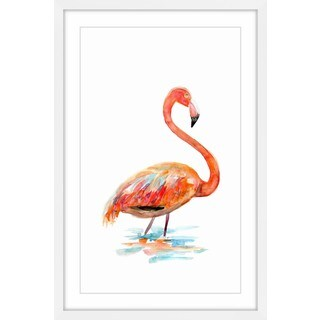 Marmont Hill - 'Flamingo Orange' by Michelle Dujardin Framed Painting Print