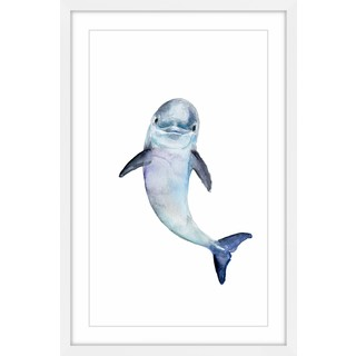 Marmont Hill - 'Baby Dolphin' by Michelle Dujardin Framed Painting Print