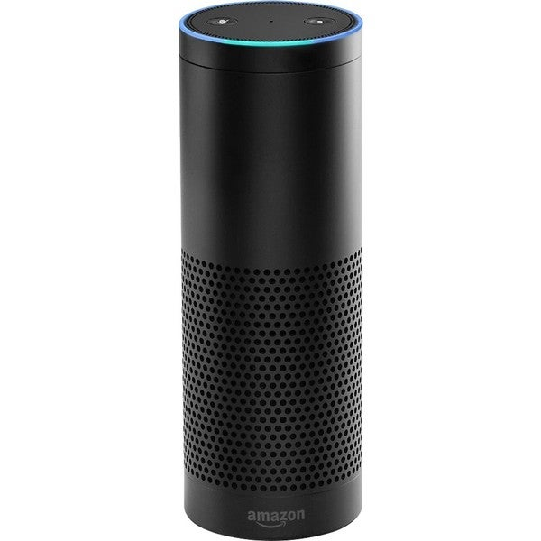 amazon echo smart speaker free shipping today overstock 20491896. Black Bedroom Furniture Sets. Home Design Ideas